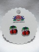 JUBLY-UMPH Rockabilly Cherry Studs (ロカビリー チェリーピアス)