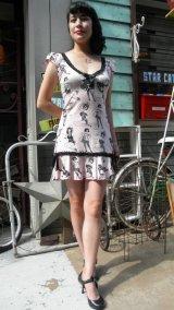 SALE!! JESSICA LOUISE PINUP FLOUNCE DRESS PINK(ジェシカルイーズ ピンナップワンピース)