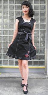 SALE!! Voodoo Vixen 50s' Nautical Sailor Dress (ヴードゥーヴィクセン・ブラックセイラードレス)