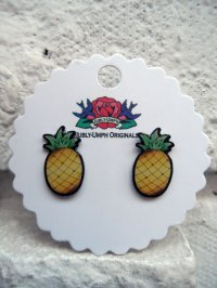 JUBLY-UMPH TROPICAL PINEAPPLE STUD EARRINGS (パイン・ピアス)