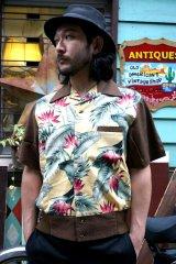 50s STYLE HAWAIIAN PANEL SHIRT(グッドロッキン・ハワイアンパネルシャツ・ブラウン )