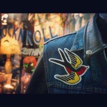 他の写真1: Swallow Nest Design Work×TOMMYGUN Swallow Patch(スワローネストデザインワーク×トミーガン スワローチェーンステッチワッペン)