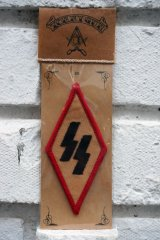 SS PATCH Rhombus RED×BLACK(バイカーワッペン・ひし形ワッペン・ナチス親衛隊SS)
