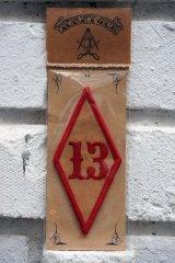 13PATCH Rhombus Red(バイカーワッペン・ひし形ワッペン13・レッド)