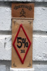 5%er PATCH  RED×BLACK(バイカーワッペン・ダイアモンドパッチ)