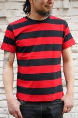 CABALLERO BORDER S/S T-SHIRT ボーダーTシャツ(黒×赤)