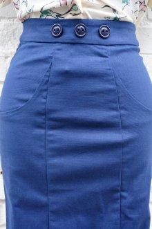 他の写真2: Collectif Vintage Style Plain Pencil Skirt Navy(ビンテージスタイル ペンシルスカート)