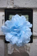 PIN-UP HAIR CLIP CARNATION BLUE(フラワーヘアクリップ・ブルー ロカビリー ピンナップ)