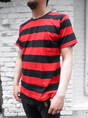 画像2: CABALLERO BORDER S/S T-SHIRT ボーダーTシャツ(黒×赤)