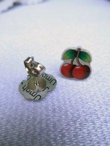 他の写真1: JUBLY-UMPH Rockabilly Cherry Studs (ロカビリー チェリーピアス)