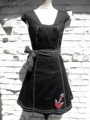 画像2: SALE!! Voodoo Vixen 50s' Nautical Sailor Dress (ヴードゥーヴィクセン・ブラックセイラードレス)
