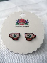 JUBLY-UMPH  TeaCup Studs Earrings (ティーカップ・ピアス)