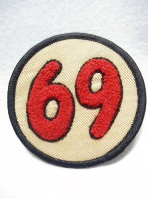 画像3: 69PATCH Red【69 ワッペン/コットンツイル生地】