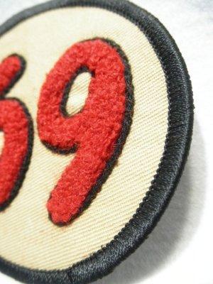 画像2: 69PATCH Red【69 ワッペン/コットンツイル生地】