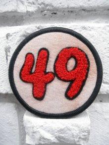 他の写真1: 49PATCH Red【49 サガラワッペン/フェルト生地】