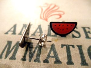 画像3: JUBLY-UMPH WATERMELON STUD EARRINGS (スイカ・ピアス)