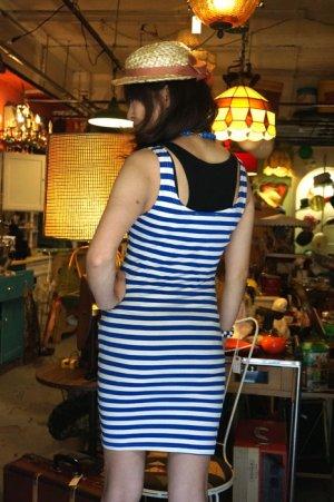 画像2: CABALLERO BLEU STRIPED TUNK DRESS(ボーダータンクトップワンピース レッド)
