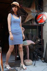 CABALLERO BLEU STRIPED TUNK DRESS(ボーダータンクトップワンピース レッド)