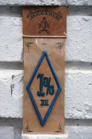 画像1: 1%er BIKER PATCH BLUE (ワンパーセンターダイアモンドパッチ・ブルー)