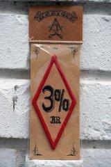 3%er PATCH RED×BLACK(バイカーワッペン・3パーセンターダイアモンドパッチ)