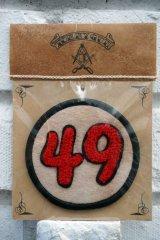 49PATCH Red【49 サガラワッペン/フェルト生地】