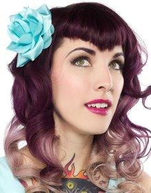 他の写真3: SOURPUSS ROSE HAIR CLIP AQUA(ローズヘアクリップ・アクアブルー)