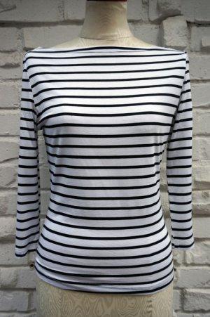 画像2: DANCING DAYS MODERN LOVE TOP WHITE×BLACK(ロカビリーボーダー7分袖Tシャツ)
