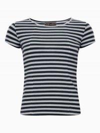 COLLECTIF ALICE T-SHIRT BLACK(コレクティフ ロカビリーボーダーTシャツ)