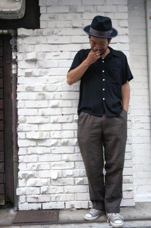 画像3: CABALLERO ORIGINAL PLAIN OPEN COLLAR SHIRT BLACK(無地 オープンカラー レーヨンシャツ ブラック)