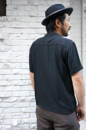 画像4: CABALLERO ORIGINAL PLAIN OPEN COLLAR SHIRT BLACK(無地 オープンカラー レーヨンシャツ ブラック)