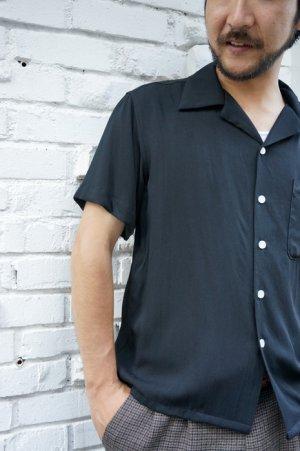 画像5: CABALLERO ORIGINAL PLAIN OPEN COLLAR SHIRT BLACK(無地 オープンカラー レーヨンシャツ ブラック)