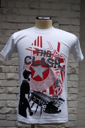 画像1: THE CLASH Short Sleeve  T-shirt Out Of Conrol 2(ザ・クラッシュ80s リプロ・ツアーTシャツ)