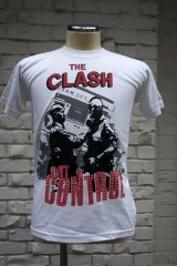 THE CLASH Short Sleeve  T-shirt Out Of Conrol(ザ・クラッシュ80s リプロ・ツアーTシャツ)