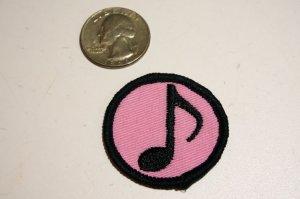 画像2: MINI PACH SINGLE NOTE・音符柄ミニワッペン・ピンク