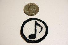 他の写真2: MINI PACH SINGLE NOTE・音符柄ミニワッペン・ホワイト