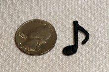 他の写真2: MINI PACH SINGLE NOTE 音符柄ミニワッペン・SINGLE NOTE・ブラック