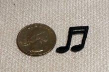 他の写真2: MINI PACH  DOUBLE NOTE 音符柄ミニワッペン・ DOUBLE NOTE・ブラック