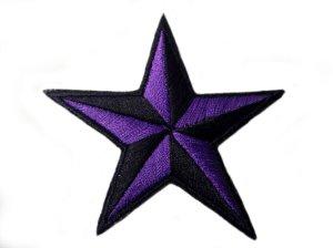 画像1: PATCH STAR PURPLE・トラディショナルスターワッペン・パープル