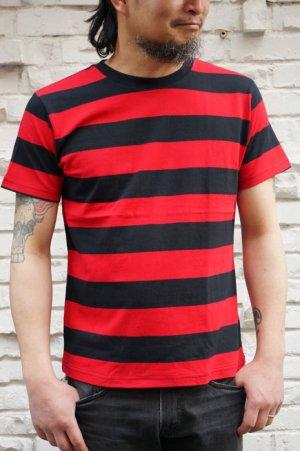 画像1: CABALLERO BORDER S/S T-SHIRT ボーダーTシャツ(黒×赤)