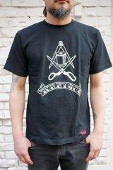 CABALLERO Secret Organization S/S Tee Black(オリジナル・秘密結社Tシャツブラック)