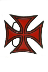 IRON CROSS BELT BUCKLES RED(アイアンクロス ベルトバックル)