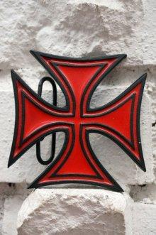 他の写真1: IRON CROSS BELT BUCKLES RED(アイアンクロス ベルトバックル)