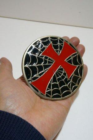 画像5: Spider's nest and cross Belt buckle(スパイダーネット×十字架 ベルトバックル)