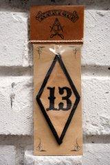 13PATCH Rhombus BLACK(バイカーワッペン・ひし形ワッペン13)