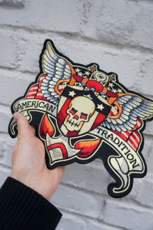 他の写真2: SKULL AND WING BIG PATCH (スカルウイング タトゥーワッペン 特大サイズ)