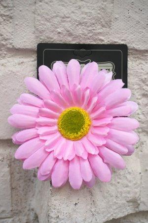 画像1: PIN-UP HAIR CLIP GERBERA PINK(フラワーヘアークリップ ガーベラ  ピンク ロカビリー ピンナップ)