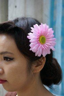 他の写真2: PIN-UP HAIR CLIP GERBERA PINK(フラワーヘアークリップ ガーベラ  ピンク ロカビリー ピンナップ)