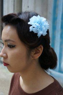 他の写真3: PIN-UP HAIR CLIP CARNATION BLUE(フラワーヘアクリップ・ブルー ロカビリー ピンナップ)