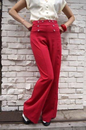 画像2: BANNED 40s SAILOR STYLE  FLARE TROUSERS RED(40sヴィンテージスタイル セーラー フレアーパンツ)