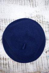 Béret Plain Navey (ウールベレー帽・ネイビー)